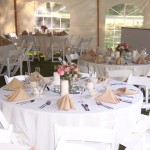 Formal Table Under a Pole Tent with Window Sides