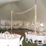 Inside View of Decorated Pole Tent